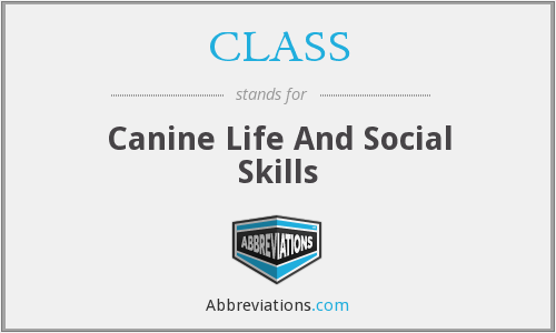 CLASS - Canine Life And Social Skills
