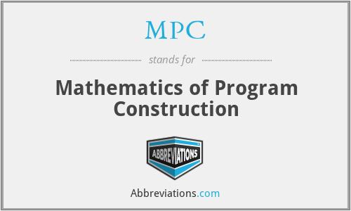MPC - Mathematics of Program Construction
