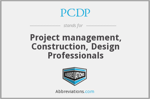 PCDP - Project management, Construction, Design Professionals