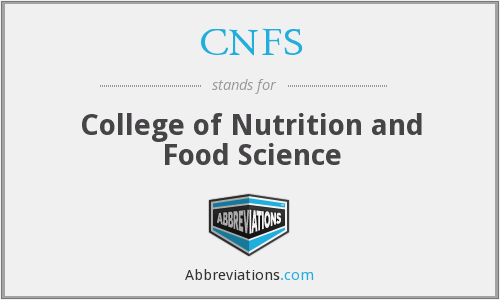 CNFS - College of Nutrition and Food Science