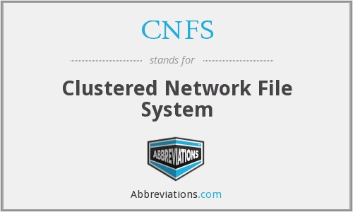What does CNFS stand for?