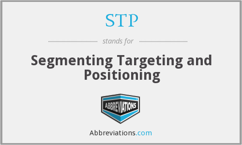 STP - Segmenting Targeting and Positioning