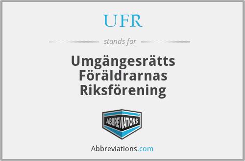UFR - Umgängesrätts Föräldrarnas Riksförening