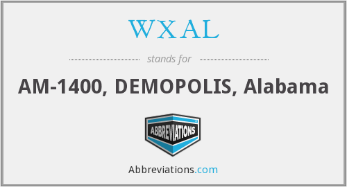 WXAL - AM-1400, DEMOPOLIS, Alabama