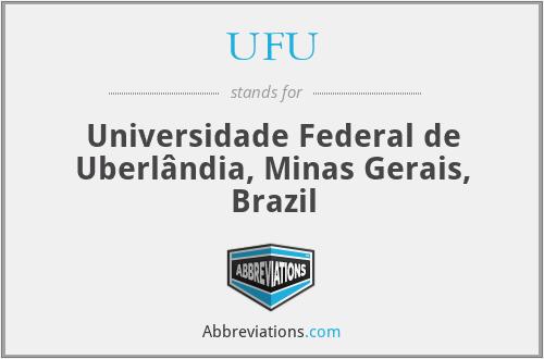 UFU - Universidade Federal de Uberlândia, Minas Gerais, Brazil