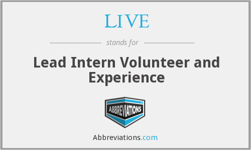 LIVE - Lead Intern Volunteer and Experience