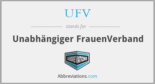 UFV - Unabhängiger FrauenVerband