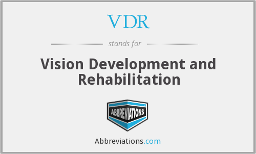 VDR - Vision Development and Rehabilitation