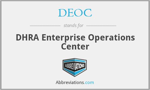 DEOC - DHRA Enterprise Operations Center
