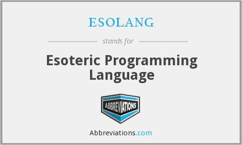 What does ESOLANG stand for?
