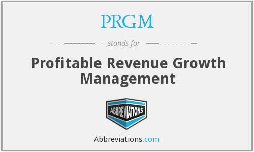 What does PRGM stand for?