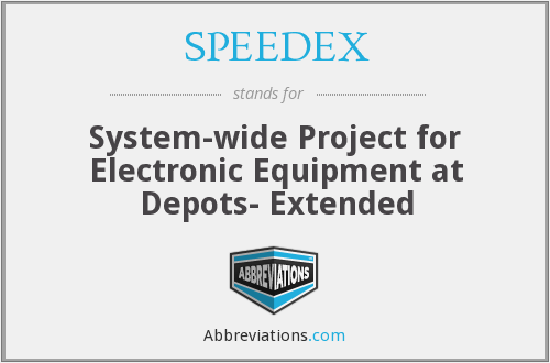 What does SPEEDEX stand for?