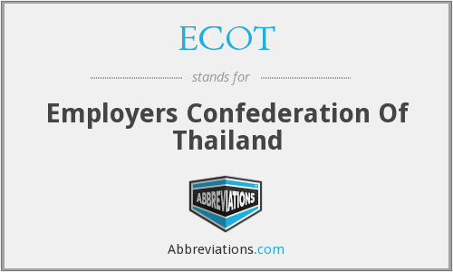 ECOT - Employers Confederation Of Thailand