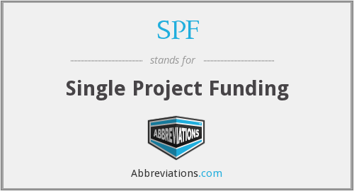 SPF - Single Project Funding