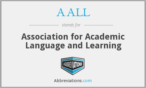 AALL - Association for Academic Language and Learning