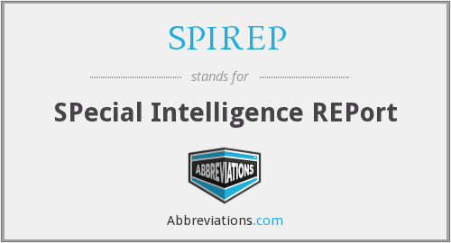 What does SPIREP stand for?
