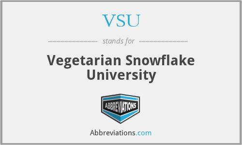 VSU - Vegetarian Snowflake University