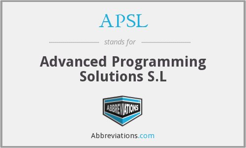APSL - Advanced Programming Solutions S.L