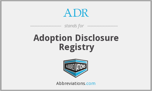 ADR - Adoption Disclosure Registry