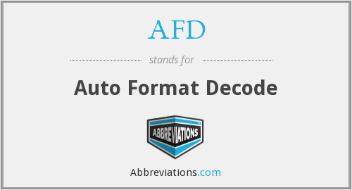 AFD - Auto Format Decode