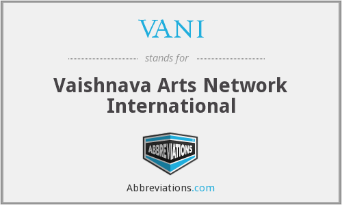 What does VANI stand for?
