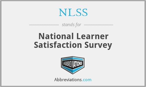 NLSS - National Learner Satisfaction Survey