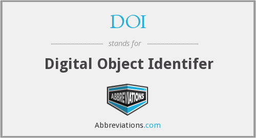 DOI - Digital Object Identifer