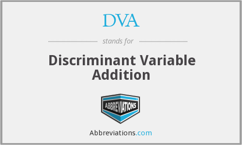 DVA - Discriminant Variable Addition
