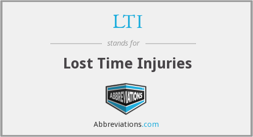 LTI - Lost Time Injuries