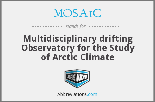 MOSAiC - Multidisciplinary drifting Observatory for the Study of Arctic Climate