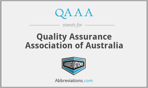 QAAA - Quality Assurance Association of Australia