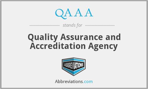 QAAA - Quality Assurance and Accreditation Agency