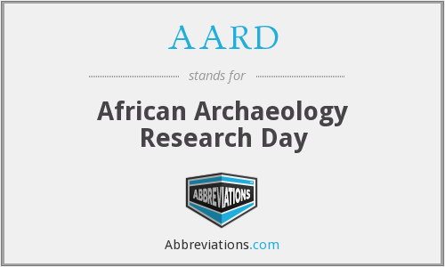 AARD - African Archaeology Research Day