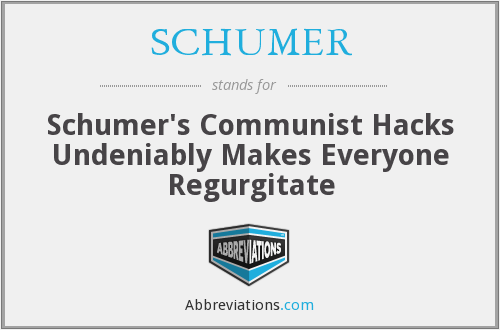 What does schumer stand for?