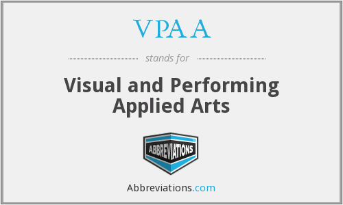 VPAA - Visual and Performing Applied Arts