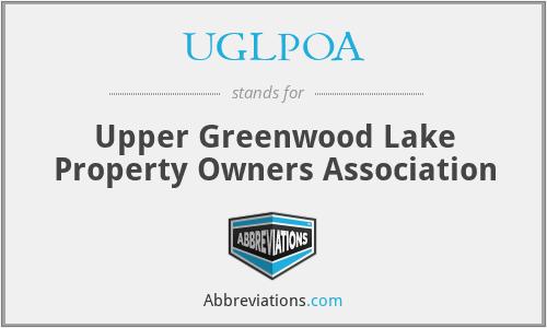 UGLPOA - Upper Greenwood Lake Property Owners Association