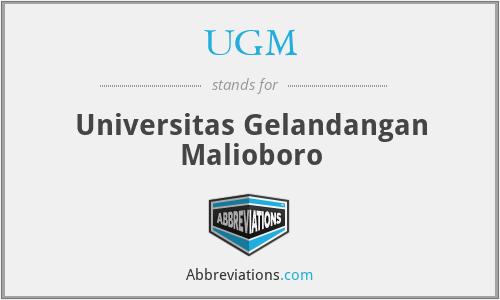 UGM - Universitas Gelandangan Malioboro