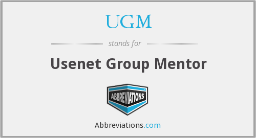 UGM - Usenet Group Mentor