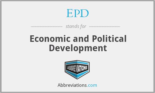 EPD - Economic and Political Development