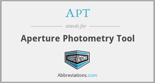 APT - Aperture Photometry Tool