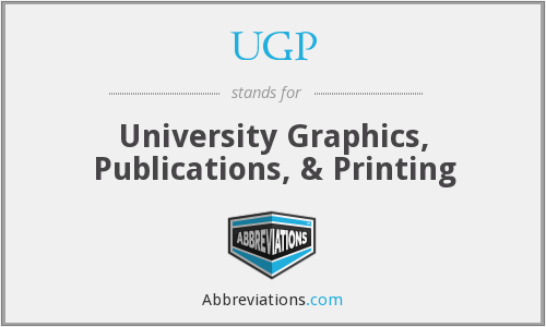 UGP - University Graphics, Publications, & Printing