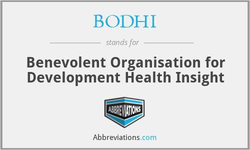 BODHI - Benevolent Organisation for Development Health Insight