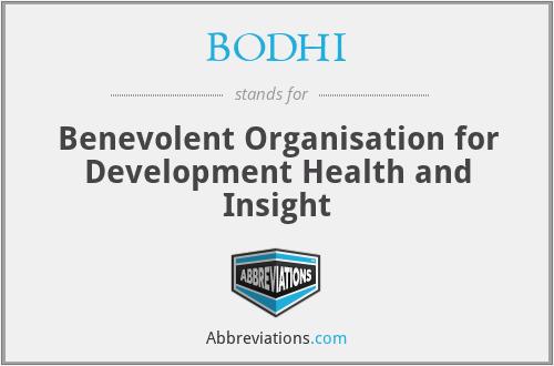 BODHI - Benevolent Organisation for Development Health and Insight