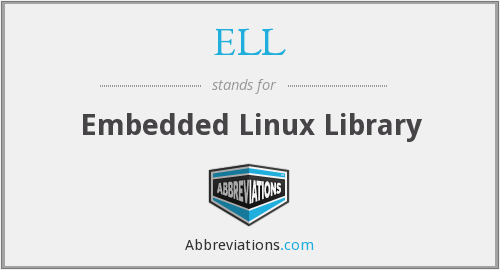 ELL - Embedded Linux Library