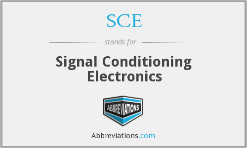 SCE - Signal Conditioning Electronics