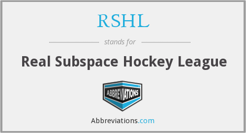 RSHL - Real Subspace Hockey League