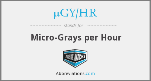 µGY/HR - Micro-Grays per Hour