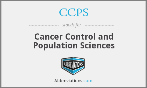 CCPS - Cancer Control and Population Sciences