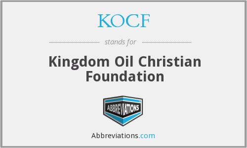 What does KOCF stand for?
