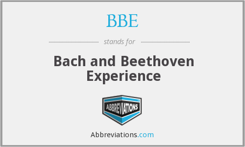 BBE - Bach and Beethoven Experience